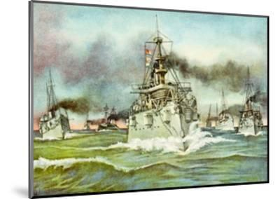 Flying Squadron of the United States Navy During the Spanish-American War, 1898--Mounted Giclee Print