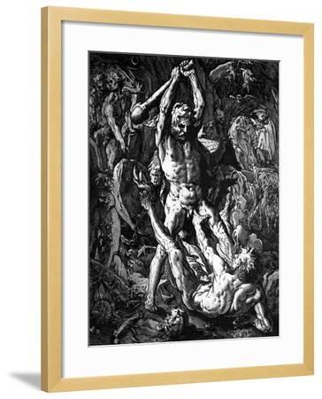 Hercules and Cacus, 1588-Hendrik Goltzius-Framed Giclee Print