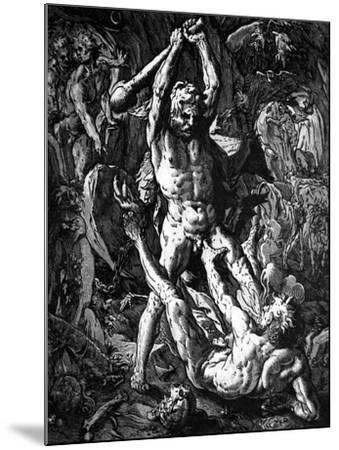 Hercules and Cacus, 1588-Hendrik Goltzius-Mounted Giclee Print
