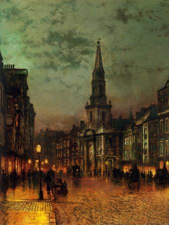 Blackman Street, 1885-John Atkinson Grimshaw-Framed Giclee Print