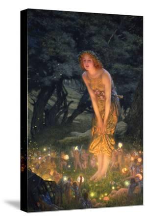 Midsummer Eve-Edward Robert Hughes-Stretched Canvas Print