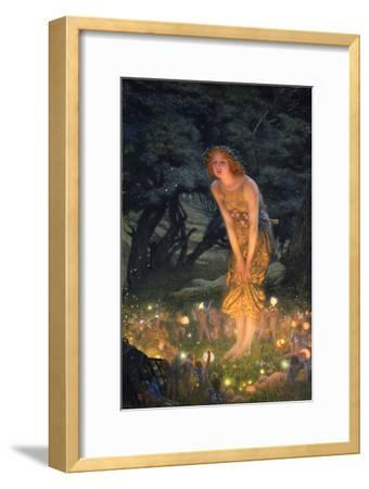 Midsummer Eve-Edward Robert Hughes-Framed Premium Giclee Print