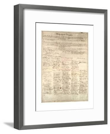 Congressional Copy of the Thirteenth Amendment Resolution, February 1 1865-Abraham Lincoln-Framed Giclee Print