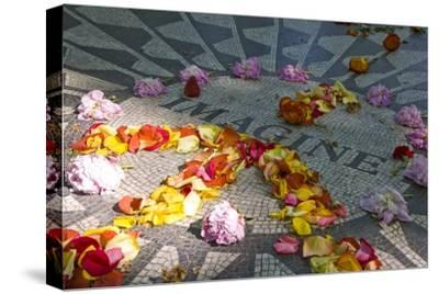 John Lennon Tribute in Strawberry Fields in Central Park, New York--Stretched Canvas Print