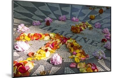 John Lennon Tribute in Strawberry Fields in Central Park, New York--Mounted Photographic Print