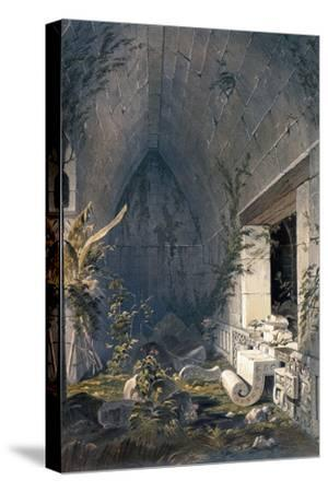 Interior of Principal Building at Kabah, from 'Views of Ancient Monuments in Central America,…-Frederick Catherwood-Stretched Canvas Print