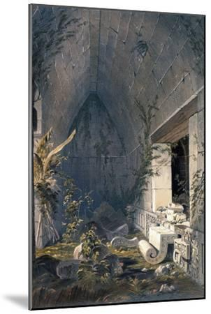 Interior of Principal Building at Kabah, from 'Views of Ancient Monuments in Central America,…-Frederick Catherwood-Mounted Giclee Print