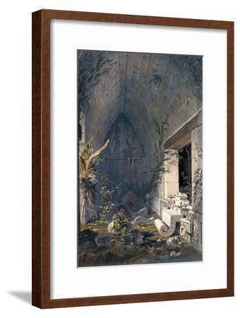 Interior of Principal Building at Kabah, from 'Views of Ancient Monuments in Central America,…-Frederick Catherwood-Framed Giclee Print