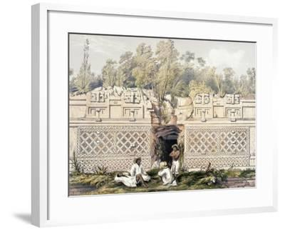 Ornament over the Gateway of the Great Teocallis, from 'Views of Ancient Monuments in Central…-Frederick Catherwood-Framed Giclee Print