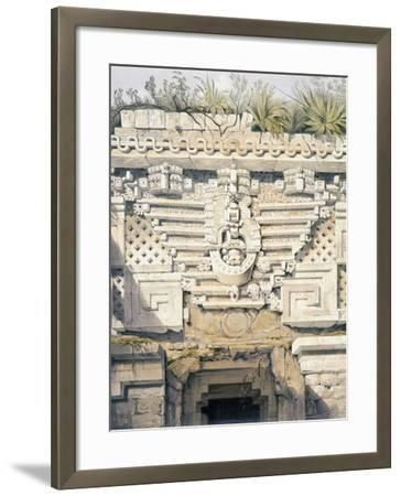 Ornament over Principal Doorway at Casa Del Gobernador, from 'Views of Ancient Monuments in…-Frederick Catherwood-Framed Giclee Print