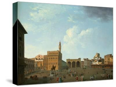 View of the Piazza Della Signoria, Florence-Thomas Patch-Stretched Canvas Print