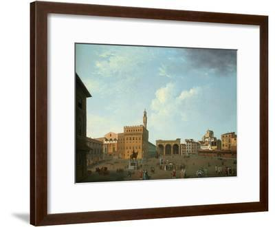 View of the Piazza Della Signoria, Florence-Thomas Patch-Framed Premium Giclee Print