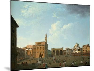 View of the Piazza Della Signoria, Florence-Thomas Patch-Mounted Premium Giclee Print