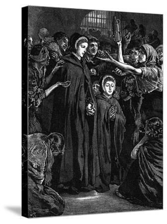 Elizabeth Fry and Anna Buxton Visiting Newgate Prison--Stretched Canvas Print