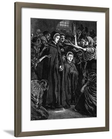 Elizabeth Fry and Anna Buxton Visiting Newgate Prison--Framed Giclee Print