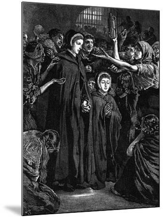 Elizabeth Fry and Anna Buxton Visiting Newgate Prison--Mounted Giclee Print