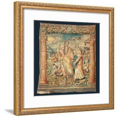 Tapestry Depicting the Descent from the Ark and the Series of the Life of Noah-Paulus van Nieuwenhove-Framed Giclee Print