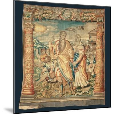 Tapestry Depicting the Descent from the Ark and the Series of the Life of Noah-Paulus van Nieuwenhove-Mounted Giclee Print