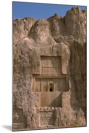 Tomb of Darius I the Great and Equestrian Victory of Bahram II--Mounted Photographic Print
