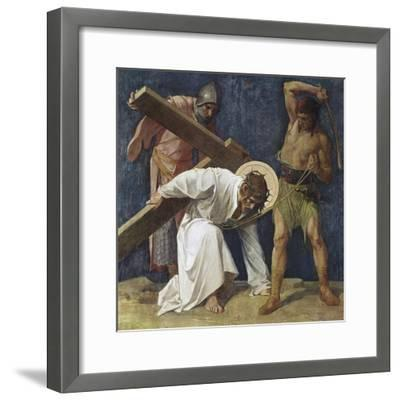 Jesus Falls the First Time (3rd Station of the Cross) 1898-Martin Feuerstein-Framed Giclee Print