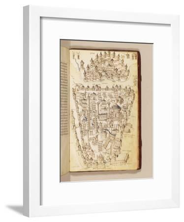 Map of Constantinople, Illustration from the 'Liber Insularum Archipelagi'-Cristoforo Buondelmonti-Framed Giclee Print