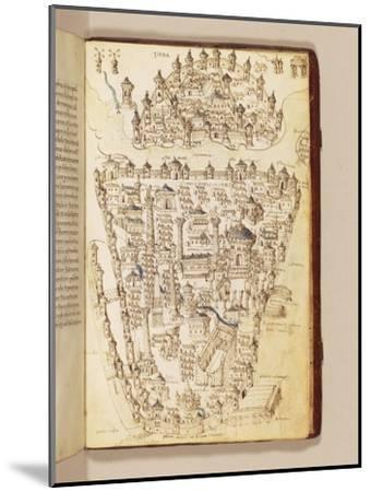 Map of Constantinople, Illustration from the 'Liber Insularum Archipelagi'-Cristoforo Buondelmonti-Mounted Giclee Print