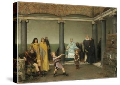 The Education of the Children of Clotilde and Clovis, 1868-Sir Lawrence Alma-Tadema-Stretched Canvas Print