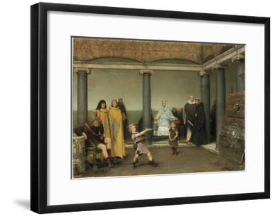 The Education of the Children of Clotilde and Clovis, 1868-Sir Lawrence Alma-Tadema-Framed Giclee Print