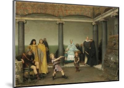 The Education of the Children of Clotilde and Clovis, 1868-Sir Lawrence Alma-Tadema-Mounted Giclee Print
