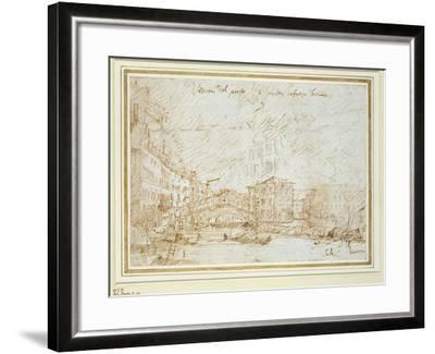 The Ponte De Rialto-Canaletto-Framed Giclee Print