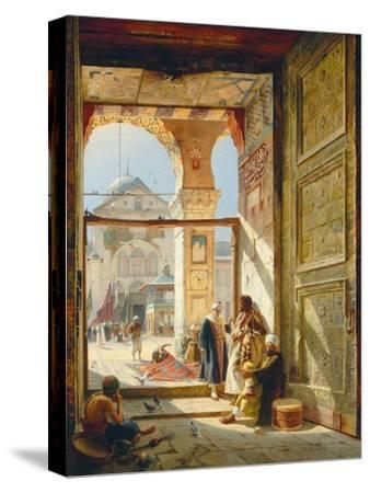 The Gate of the Great Umayyad Mosque, Damascus, 1890-Gustave Bauernfeind-Stretched Canvas Print