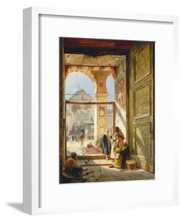 The Gate of the Great Umayyad Mosque, Damascus, 1890-Gustave Bauernfeind-Framed Giclee Print
