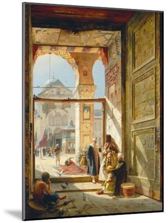 The Gate of the Great Umayyad Mosque, Damascus, 1890-Gustave Bauernfeind-Mounted Giclee Print