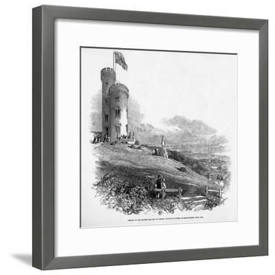 Opening of the Mathew and City of London Temperance Tower, at Mount Patrick, Near Cork, 1846--Framed Giclee Print
