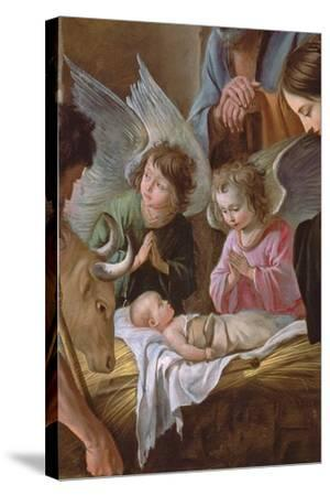 The Adoration of the Shepherds, C.1638 (Detail)-Antoine And Louis & Mathieu Le Nain-Stretched Canvas Print