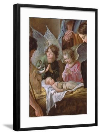 The Adoration of the Shepherds, C.1638 (Detail)-Antoine And Louis & Mathieu Le Nain-Framed Giclee Print