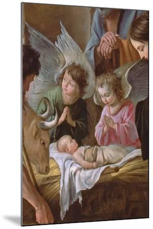 The Adoration of the Shepherds, C.1638 (Detail)-Antoine And Louis & Mathieu Le Nain-Mounted Giclee Print