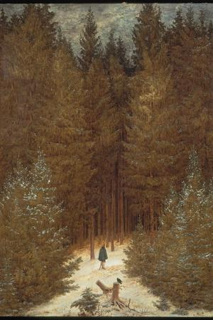 Hunter in the Forest, C.1814-Caspar David Friedrich-Stretched Canvas Print