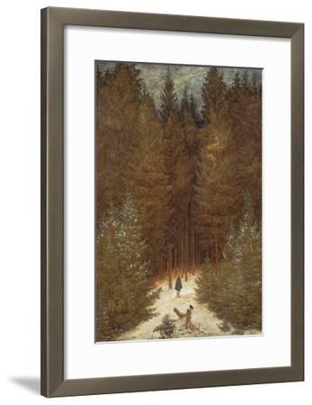 Hunter in the Forest, C.1814-Caspar David Friedrich-Framed Giclee Print