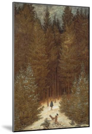 Hunter in the Forest, C.1814-Caspar David Friedrich-Mounted Giclee Print