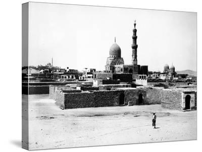 Mosque of Qaytbay, Cairo, C.1880-J. Pascal Sebah-Stretched Canvas Print