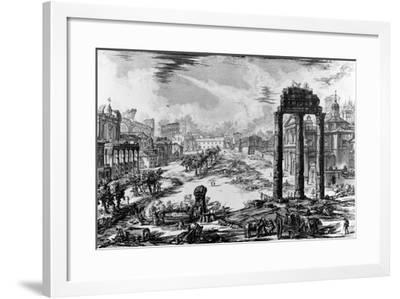 View of the Roman Forum, from the 'Views of Rome' Series, 1758-Giovanni Battista Piranesi-Framed Giclee Print