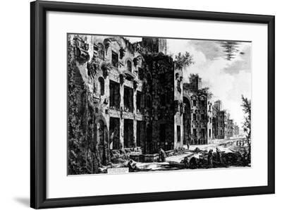 View of the Frigidarium at the Baths of Diocletian, from the 'Views of Rome' Series, C.1760-Giovanni Battista Piranesi-Framed Giclee Print