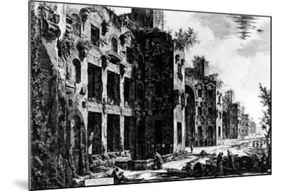 View of the Frigidarium at the Baths of Diocletian, from the 'Views of Rome' Series, C.1760-Giovanni Battista Piranesi-Mounted Giclee Print