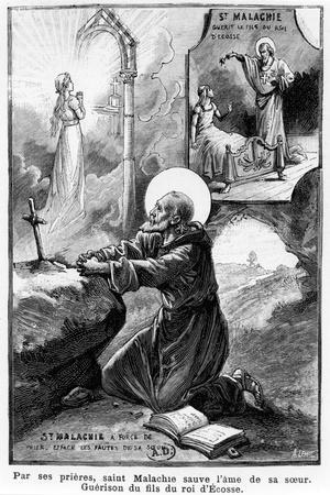 St Malachy Praying for the Soul of His Sister--Stretched Canvas Print