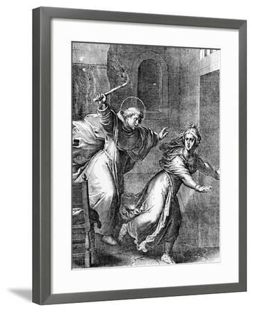 The Young Thomas Aquinas Chases a Temptress from His Room--Framed Giclee Print
