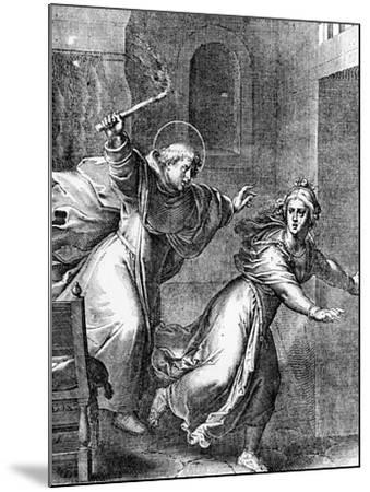 The Young Thomas Aquinas Chases a Temptress from His Room--Mounted Giclee Print