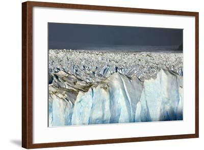 Detail of Glaciar Perito Moreno with Blue Ice Caverns--Framed Photographic Print