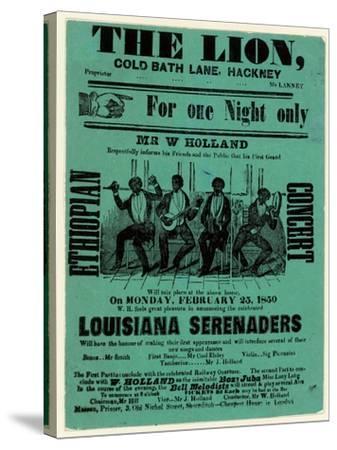 Louisiana Serenaders at the Lion, Hackney--Stretched Canvas Print
