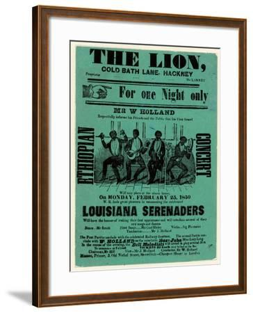 Louisiana Serenaders at the Lion, Hackney--Framed Giclee Print